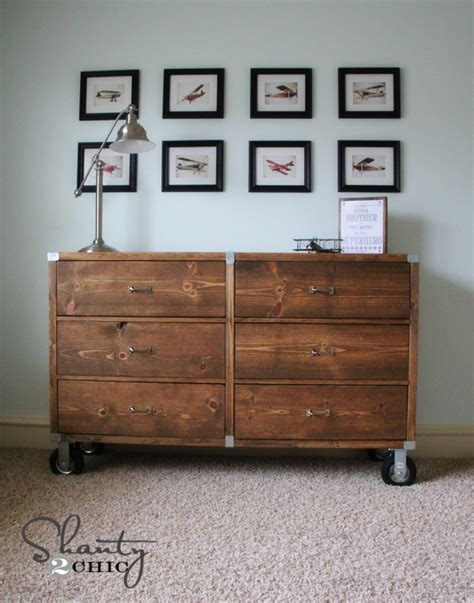 diy furniture wood dresser  wheels shanty  chic