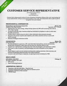 Customer Service Representative Resume Template For ...