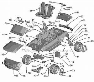Power Wheels J9561 Parts List And Diagram