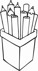 Pencil Clipart Box Pencils Coloring Outline Pages Pack Printable Clipartmag Clipground Recommended sketch template