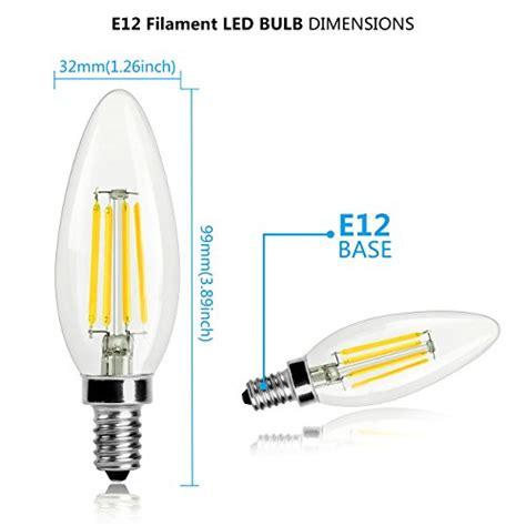 shine hai candelabra led filament bulbs 40w equivalent