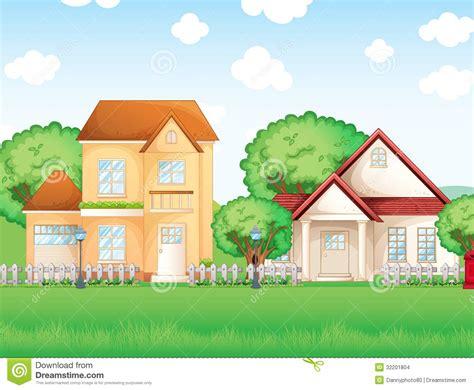 two houses two big houses stock vector image of cement neighborhood