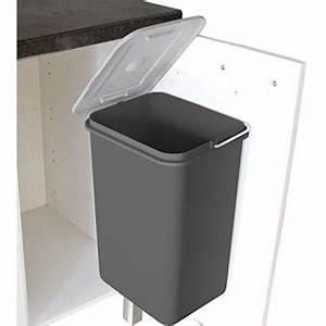 Poubelle Cuisine Sous Evier : frandis poubelle porte strada gris achat prix fnac ~ Carolinahurricanesstore.com Idées de Décoration