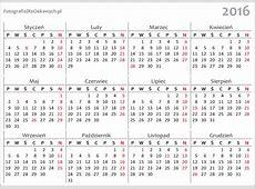 Kalendarz 2016 do pobrania