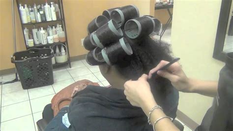 Roller Set on Natural Hair and Dominican Blow Out (@lucys