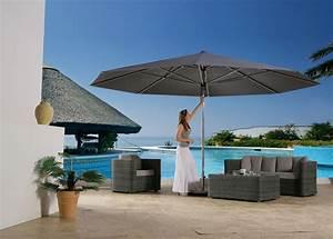 sonnenschirm rechteckig fur balkon innenraume und mobel With französischer balkon mit sonnenschirm holz rechteckig