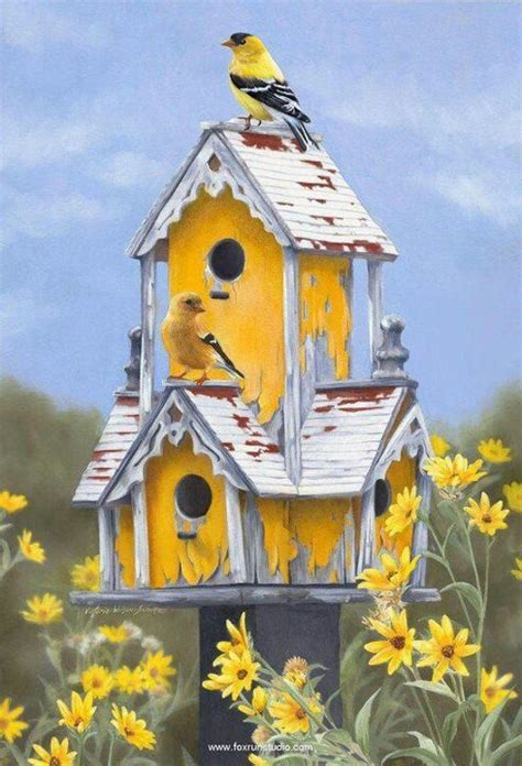 gold finch on gold house bird houses pinterest