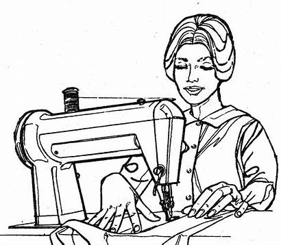Sewing Clipart Quilting Woman Dressmaker Christian Box
