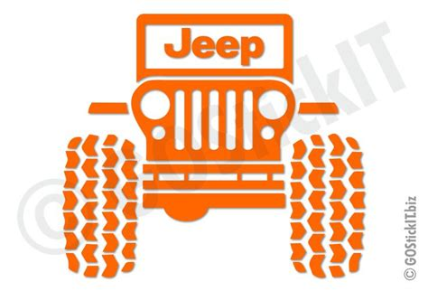 jeep sticker ideas jeep logo big tires jeep vinyl decal sticker gostickit