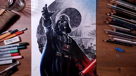 star wars darth vader speed drawing drawholic youtube