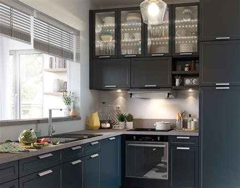 castorama cuisine fog bleu une cuisine chic et pratique