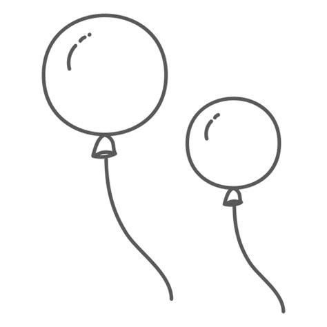 Doodle par de cuerdas de globo Descargar PNG/SVG