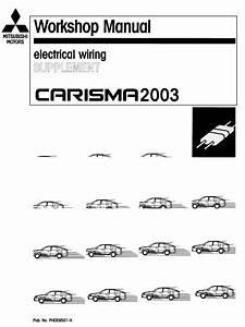 Mitsubishi Carisma 2003 Electrical Wiring Supplement  No