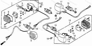 Honda Motorcycle 1983 Oem Parts Diagram For Turn Signal