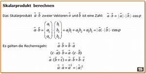 Skalarprodukt Berechnen Online : vektorrechnung vektoren multiplizieren l nge eines vektors ~ Themetempest.com Abrechnung