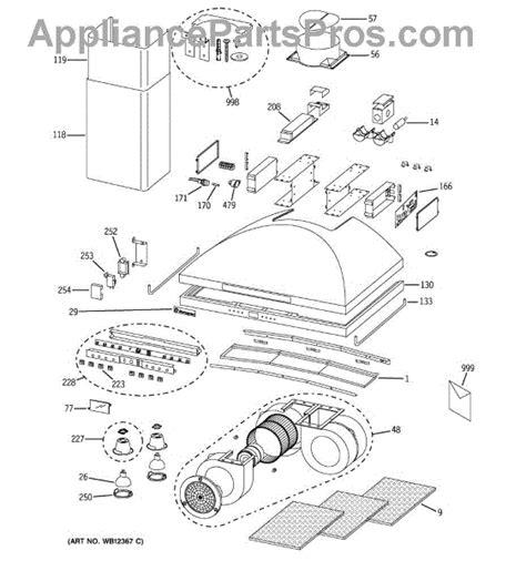 parts  ge zvsdss range hood parts appliancepartsproscom