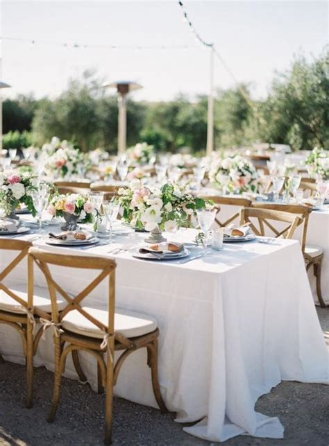 cross back dining chairs wedding style inspiration