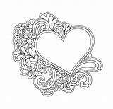 Doodle Heart Coloring Pages Simple Doodles Mandala Hearts Colouring Sheets Bestcoloringpagesforkids Printable Visit Forrasa Cikk sketch template