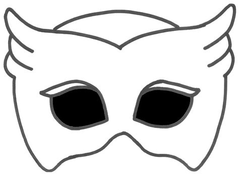 pj masks template printable owlette mask with transparent background s pj masks birthday