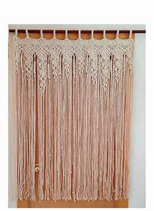 Tringle A Rideau 3m : macrame curtain large macrame macrame fiber art macrame ~ Dallasstarsshop.com Idées de Décoration