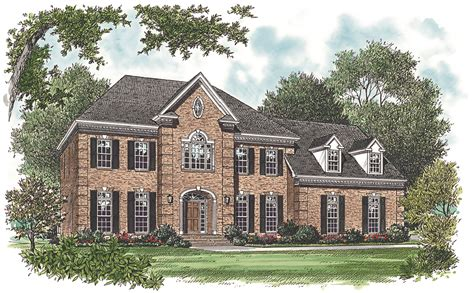 sq ft georgian house plan    bedrm home