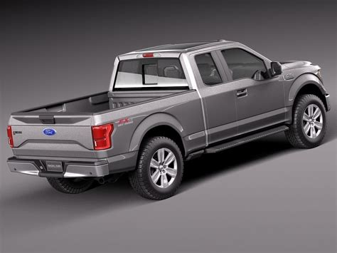 2015 f150 ext cab for ford f 150 extended cab 2015 3d model max obj 3ds fbx