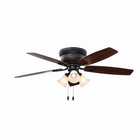 hunter oakhurst ceiling fan hunter oakhurst 52 in bronze indoor low profile ceiling