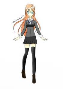 Anime Girl with School Uniform