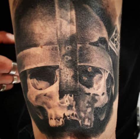 Viking Compass Tattoo Back