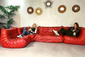 Ligne Roset Bettsofa : vintage leren bank togo ligne roset midcentury design sofa togo ligne roset ~ Markanthonyermac.com Haus und Dekorationen