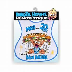Cadeau Homme 20 Ans : bavoir humoristique 20 ans homme ~ Melissatoandfro.com Idées de Décoration