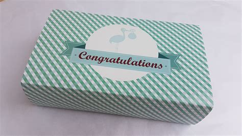 Gower Cottage Brownies by Congratulations New Baby Blue Gower Cottage Brownies