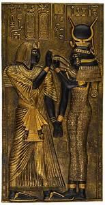 Ancient Egypt Egyptian Decor Goddess Isis Wall Sculpture ...  Egyptian