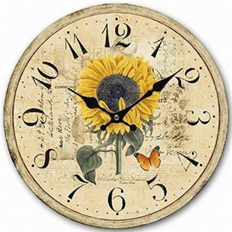 country kitchen clocks sunflower kitchen clocks for home decor 2760