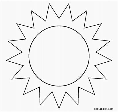 Sun Coloring Pages Printable Cool2bkids Template Shape