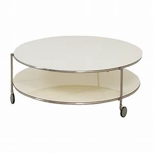 82 off crate barrel crate barrel white double glass With double glass coffee table
