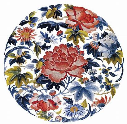 Chinese Embroidery Traditional Flower China Plate Wealth