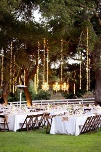 outdoor string lighting in trees wedding inspiration from others