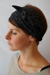 bandeau a cheveux a fleurs noir et gris bandeaux With tapis chambre bébé avec bandeau cheveux fleur femme