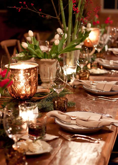 woodland inspired christmas table