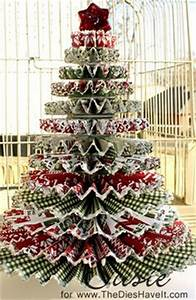 Rosette Christmas Tree is is a GREAT idea e link