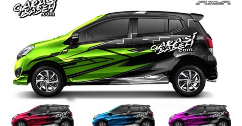 Daihatsu Ayla Backgrounds by New Daihatsu Ayla Decal Sticker Consept Speed Colour