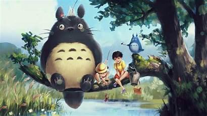 Totoro Anime Engine Gerak Neighbour Wallpapers Neighbor
