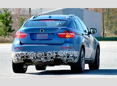 BMW X6 M spotted this time in a blue color