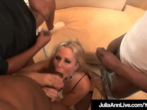 Milf Julia Ann Anal Fucked And Facialed By 4 Big Black Cocks