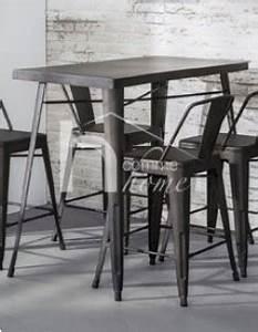 Table Haute Industrielle : table haute industrielle en acier bistrot ~ Melissatoandfro.com Idées de Décoration