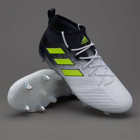 adidas ace  sg mens boots soft ground  whitesolar yellowcore black