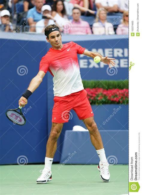 Grand Slam Champion Roger Federer Of Switzerland In Action