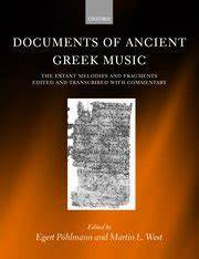 Documents of ancient greek music egert pohlmann martin for Documents of ancient greek music