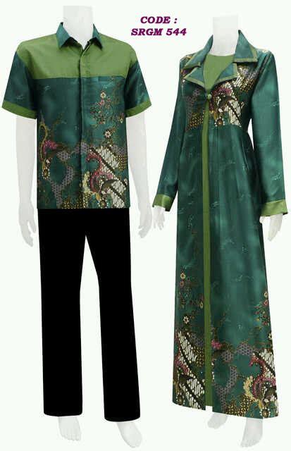 busana batik modern model jubah code srgm  koleksi